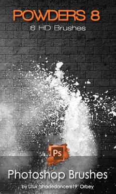Shades Powders 8 HD Photoshop Brushes