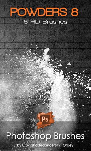 Shades Powders 8 HD Photoshop Brushes by shadedancer619