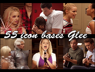 55 icon bases Glee 2 by GinnyBonnie