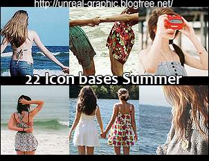 22 icon bases Summer by GinnyBonnie