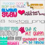 8 textos PNG