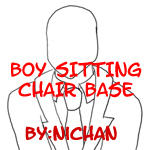 Boy Sitting Chair Base - ni by TMNT-U