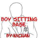 Boy Sitting Base - ni by TMNT-U