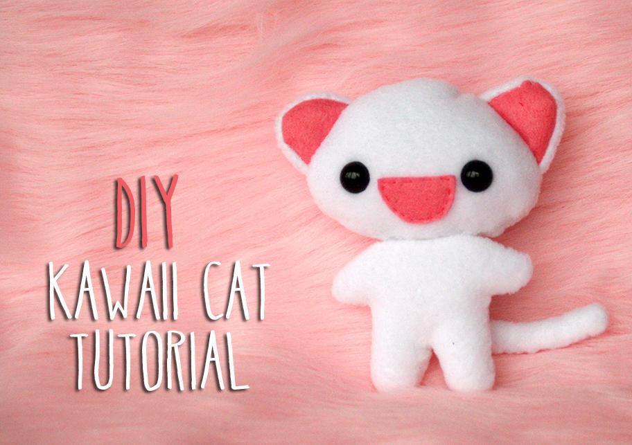 DIY Kawaii Cat plushie tutorial by kumakumashop