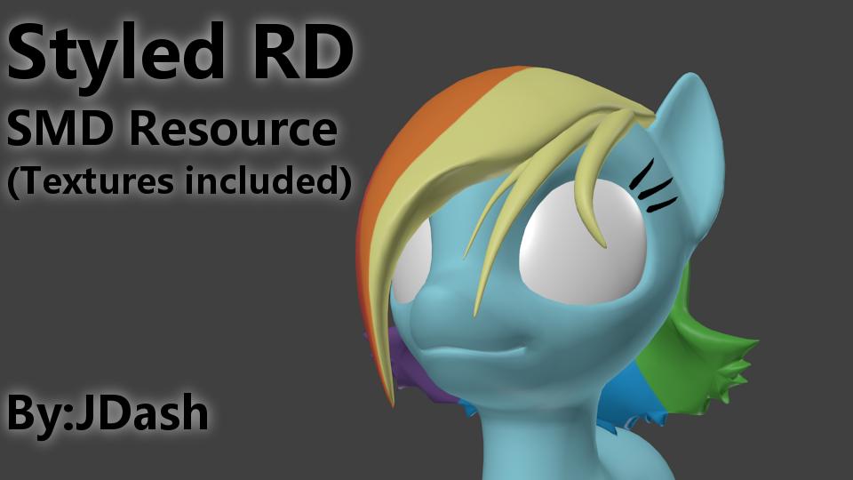 Rainbow Dash Styled Mane Resource by JDash42