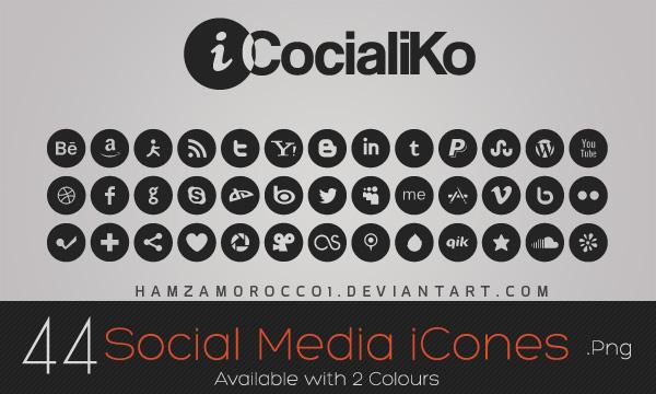iCocialiKo FREE Social Media iCones by lechham