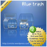 Blue trash