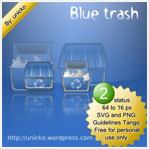 Blue trash by unicko