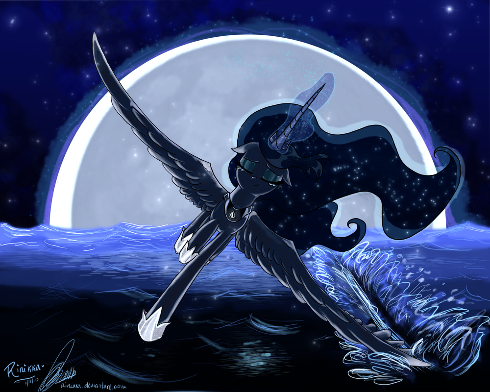 into the silence pt 1 princess luna mlp fanfic by