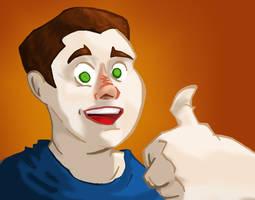 Self-Portrait Cartoonized by Jonny-Aleksey