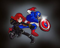 Captain America and Black Widow by Jonny-Aleksey