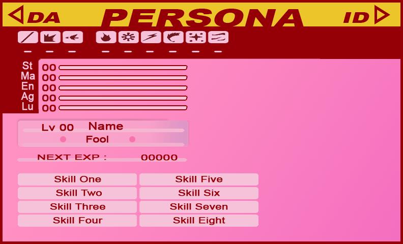 Persona ID Template FeMC by AdenSyra