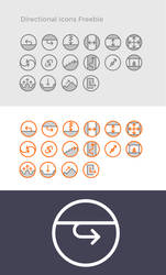 Directional Icons Freebie by festgebaeck