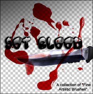 gimp blood brushes