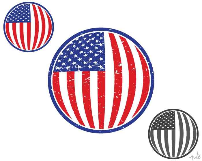 US flag by braddamy