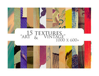15 textures: art + vintage by sabinefischer