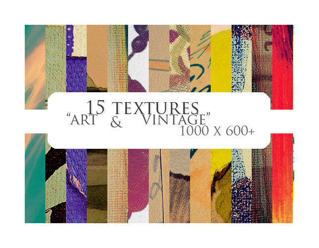 15 textures: art + vintage by sabinefischer