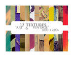 15 textures: art + vintage