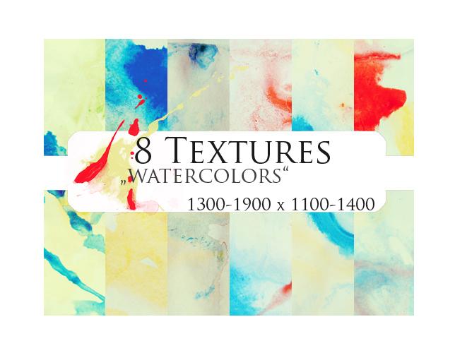 8 Textures: watercolors