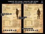 RPG Character Sheet 1.1