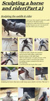 Sculpting a horse and rider (Part2 )