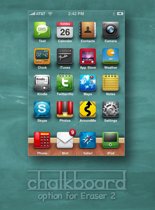 Chalkboard Theme for Eraser 2 by hotiron