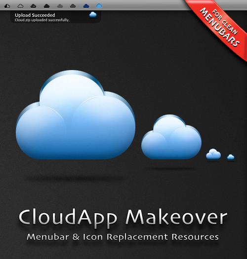 CloudApp Menubar Makeover by hotiron