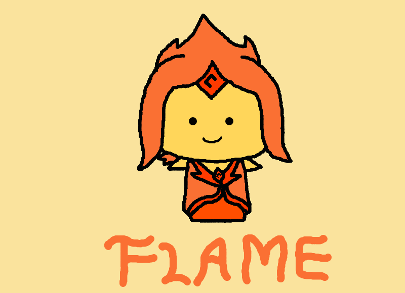 Flame Princess Chibi (Adventure Time) by Audinaa on DeviantArt