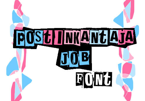 Postinkantaja Job font by iwannaknowyou