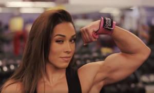 Girl flexing biceps 3 (Gif)