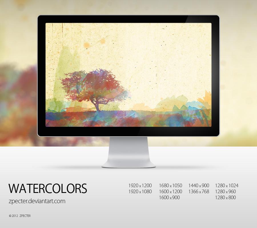 wallpaper 38 watercolors by zpecter