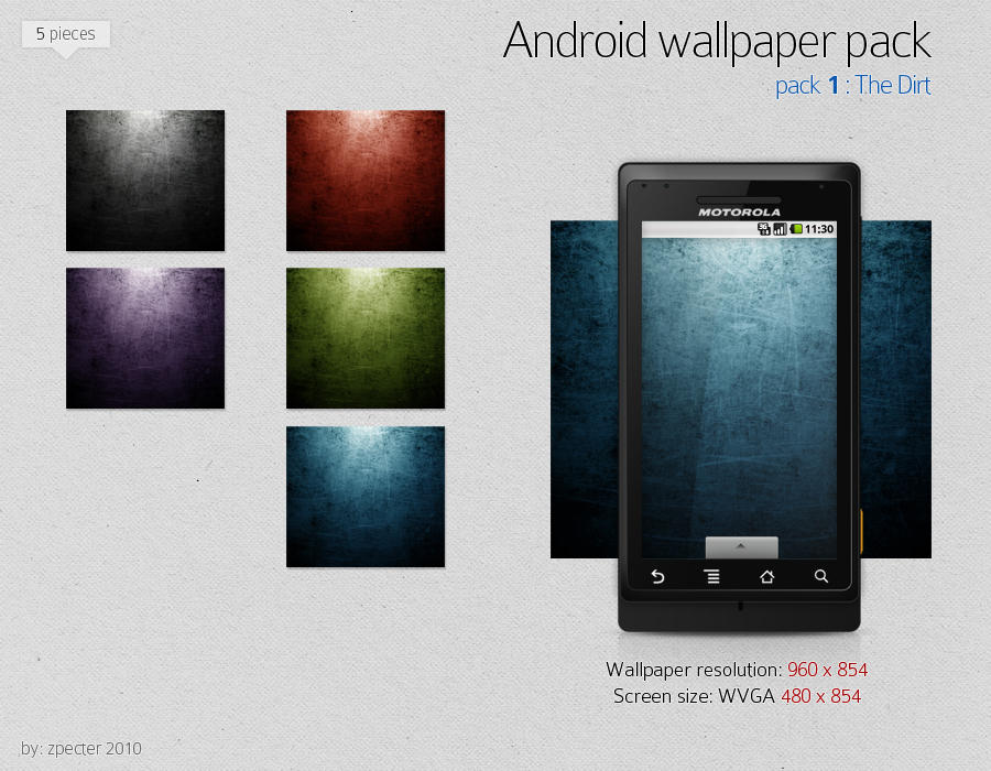 android wallpaper pack 01 by zpecter