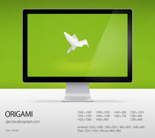 wallpaper 77 origami by zpecter