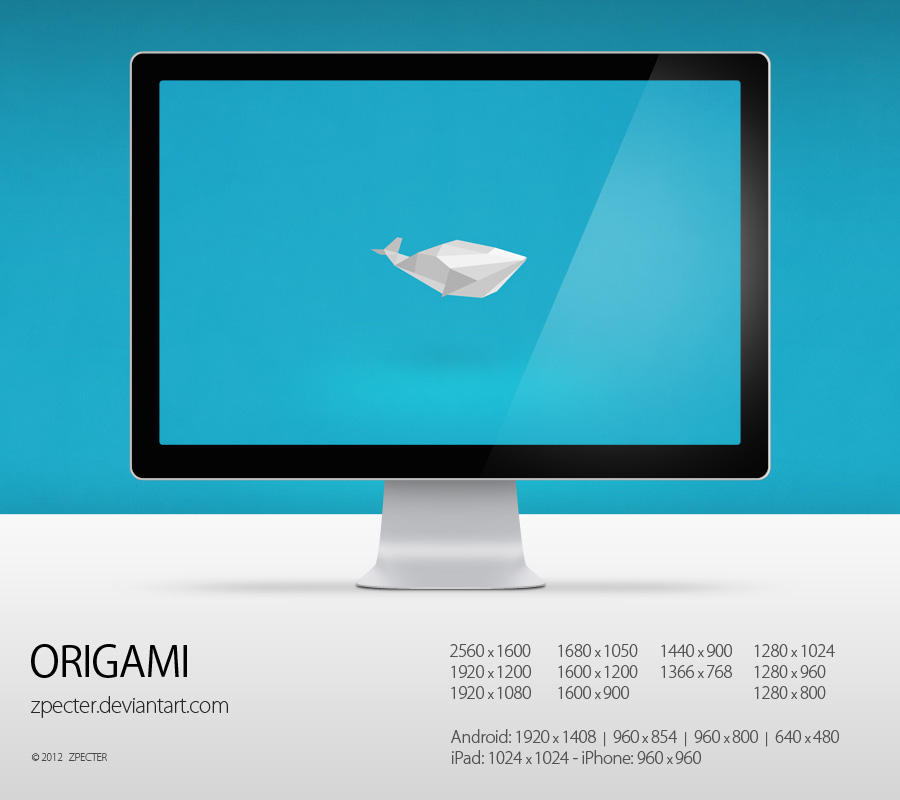 wallpaper 79 origami by zpecter