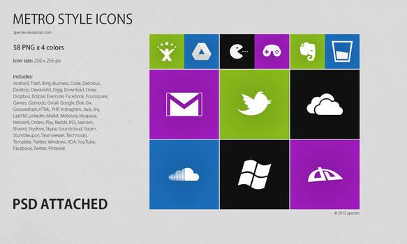 METRO styled icons