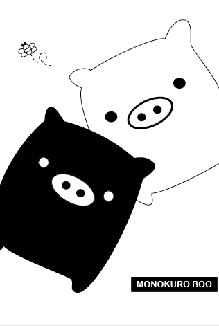 Monokuro Boo Pig iphone by saturnsara