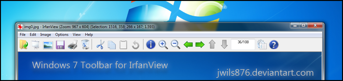 Win7 Toolbar for IrfanView by Drudger on DeviantArt