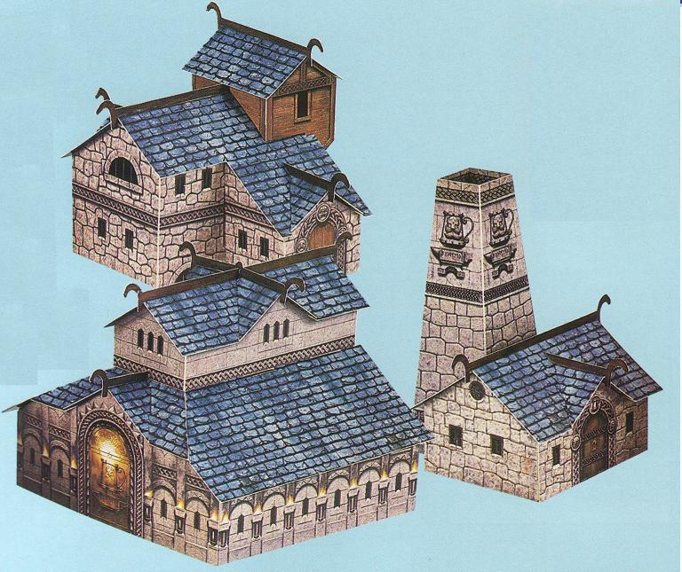 Warhammer Clash Of Drong Papercraft Buildings By Kaal979 On Deviantart