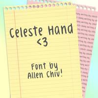 Celeste Hand Font by asianpride7625