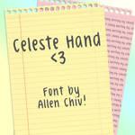 Celeste Hand Font