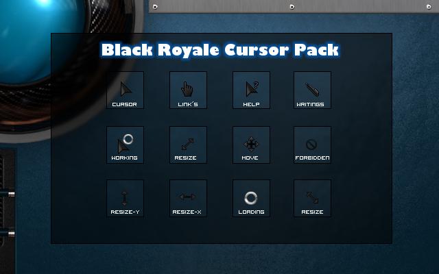 Black Royale Cursor Pack