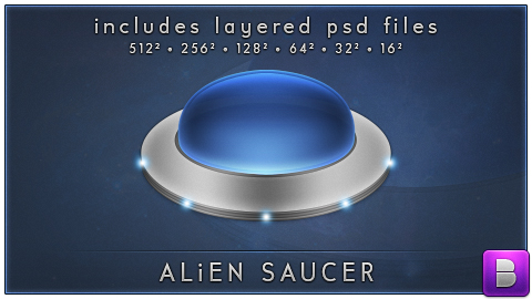 Alien Saucer by BeanR