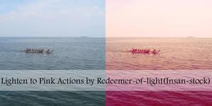 Lighten to Pink Actions