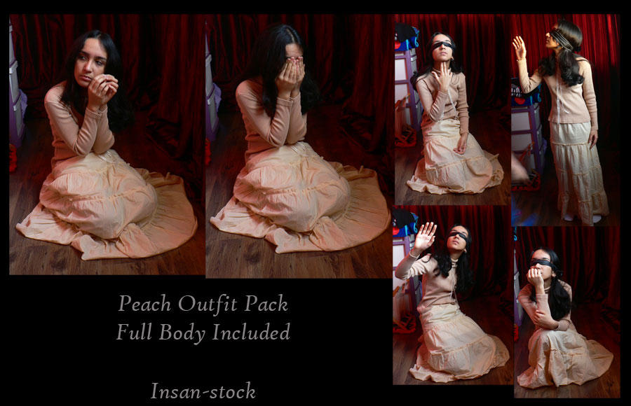 Peach Outfit Pack by Insan-Stock