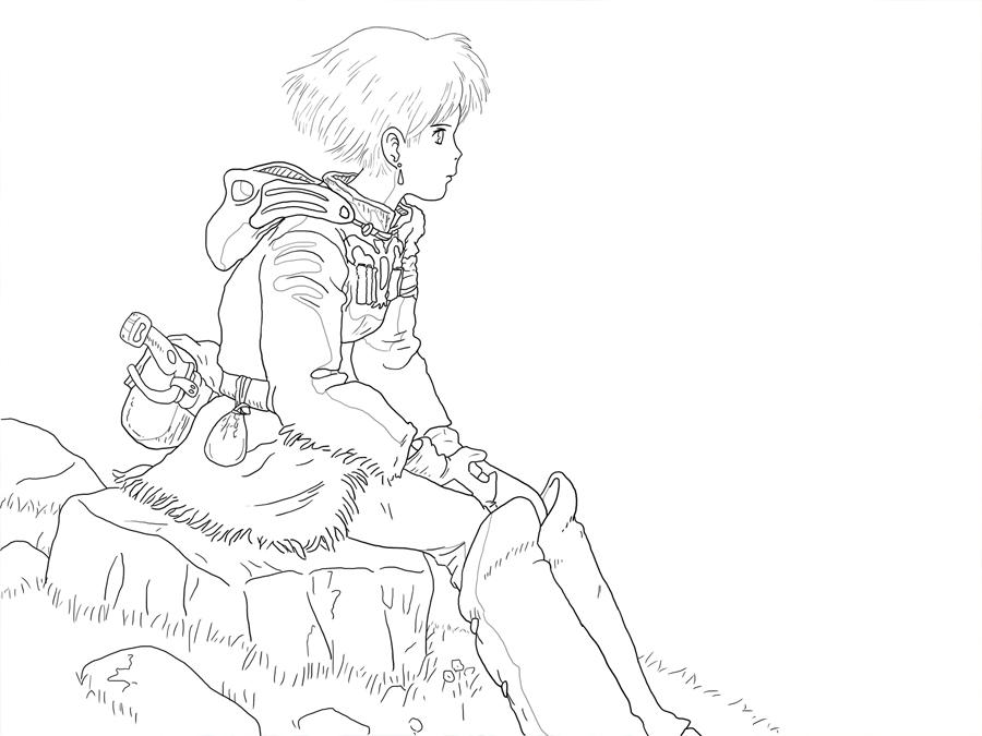 Line Art Studio Serpong : Nausicaa lineart by jenthura on deviantart