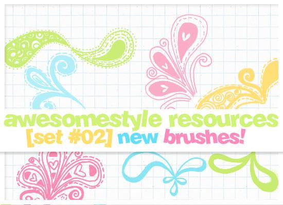 brushes set 02 by awesomestyle
