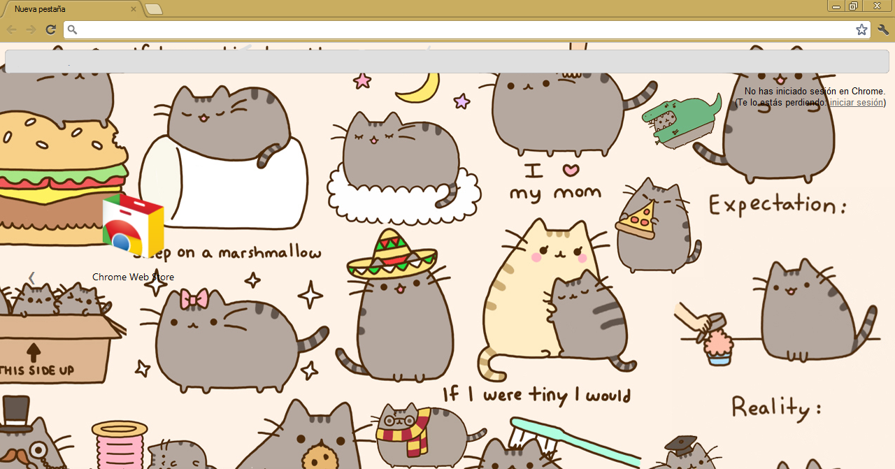 Google chrome themes gallery 2012 -  Theme Google Chrome Pusheen The Cat By Meel Editionss
