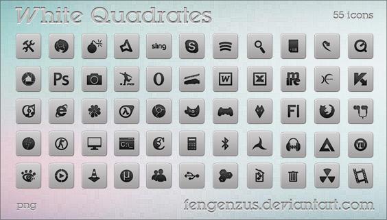 White Quadrates by FenGenzus