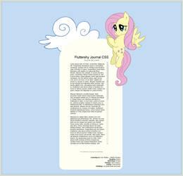 Fluttershy Journal Skin by dxd