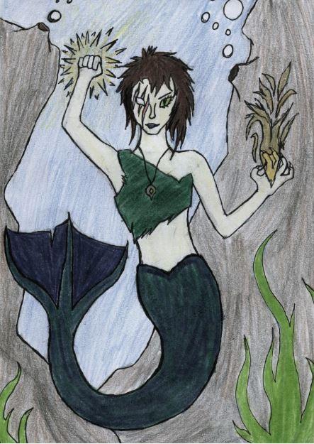 Evil Mermaid : For Bruncikara by GwillaTheDragon